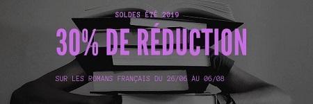 Soldes été 2019 romans français