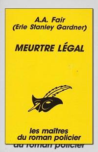 FAIR A. A. – Meurtre légal