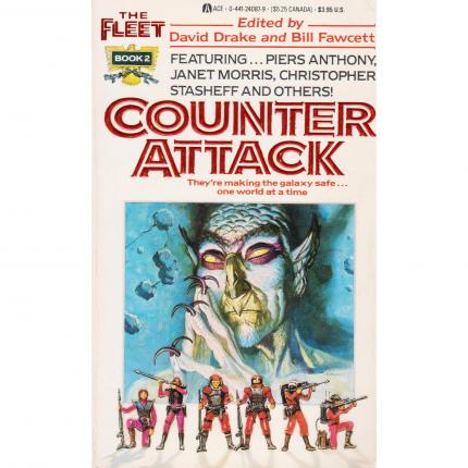 DRAKE David et FAWCETT Bill, Counter Attack, The Fleet, Book 2 – ACE 1988 Face - Bouquinerie en ligne culture okaz